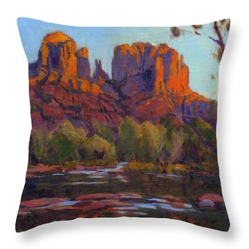 Cathedral Rock, Sedona Throw Pillow