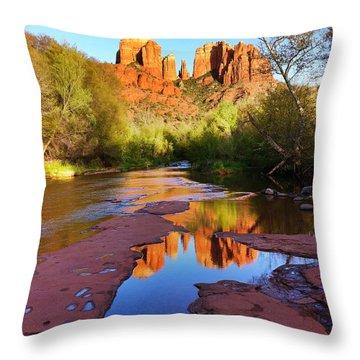 Cathedral Rock Sedona Throw Pillow by Matt Suess