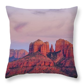 Throw Pillow featuring the photograph Cathedral Rock by Patricia Davidson