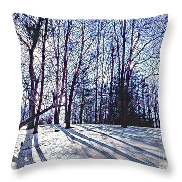 Cathedral Skies Throw Pillow by Margaret Lindsay Holton