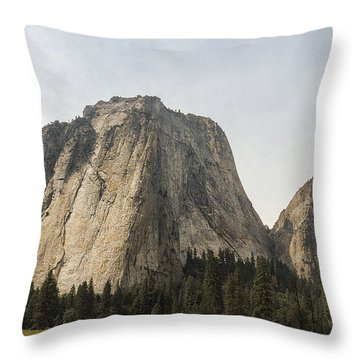 Cathedral Spires Yosemite Valley Yosemite National Park Throw Pillow