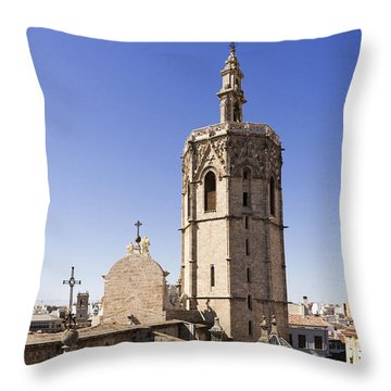 Cathedral Valencia Micalet Tower Throw Pillow
