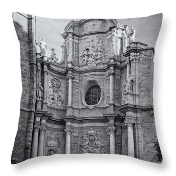 Throw Pillow featuring the photograph Cathedral Valencia Spain by Joan Carroll