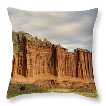 Cathedral Valley Wall Throw Pillow by Gary Warnimont