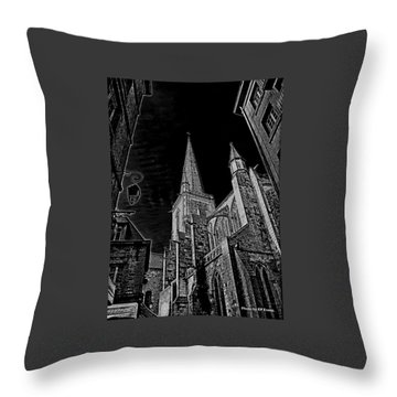 Throw Pillow featuring the photograph Cathedrale St/. Vincent by Elf Evans
