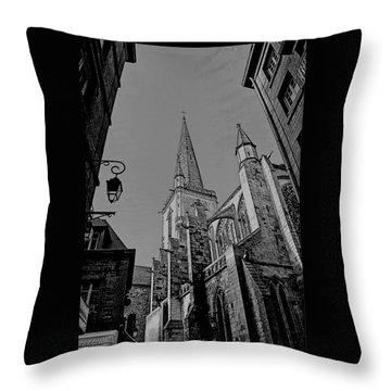 Throw Pillow featuring the photograph Cathedrale St. Vincent  by Elf Evans