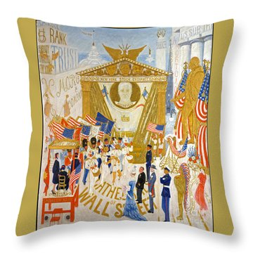 Throw Pillow featuring the photograph The Cathedrals Of Wall Street - History Repeats Itself by John Stephens