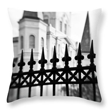 Catheral Basilica Throw Pillow by Scott Pellegrin