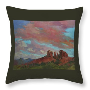 Catherdral Canopy Throw Pillow