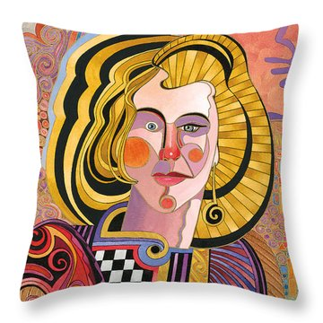 Catherine Throw Pillow by Bob Coonts