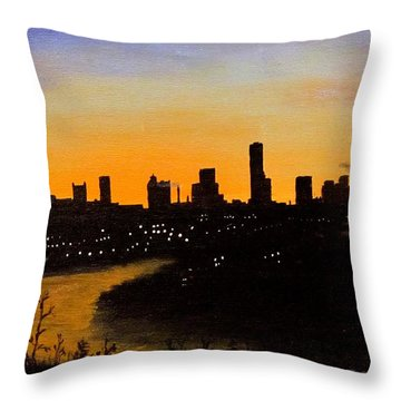Catherine's Sunrise Throw Pillow by Jack Skinner
