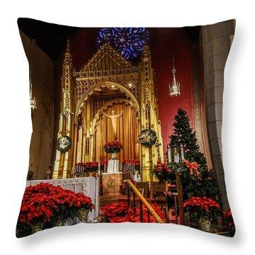 Catholic Christmas Throw Pillow