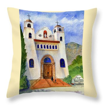 Catholic Church Miami Arizona Throw Pillow