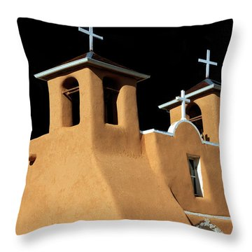 Throw Pillow featuring the photograph St Francis De Assi Church  New Mexico by Bob Christopher