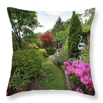 Cathy's Garden - A Little Slice Of England Throw Pillow by Gill Billington
