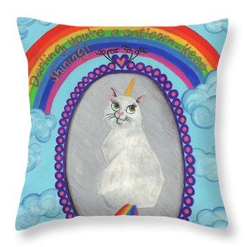 Caticorn Throw Pillow