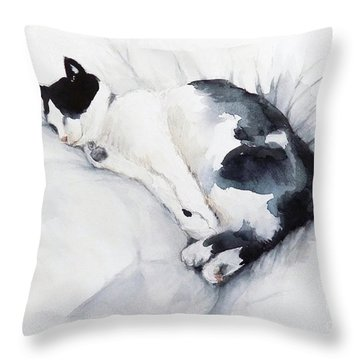 Catnap 1-2 Throw Pillow