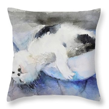 Catnap2-1 Throw Pillow