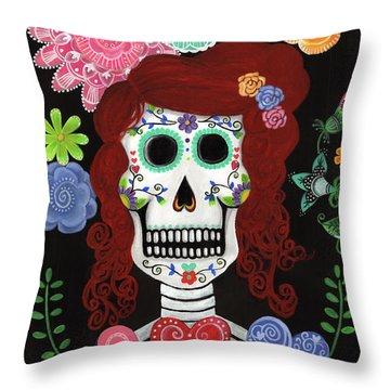 Catrina's Garden Throw Pillow