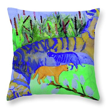 Cats And A Fiddle Throw Pillow