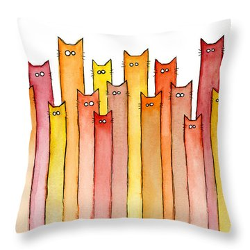 Cats Autumn Colors Throw Pillow
