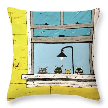 Cats Daydreaming Throw Pillow