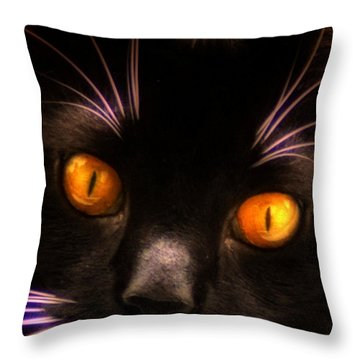 Cats Eyes Throw Pillow by Bill Cannon