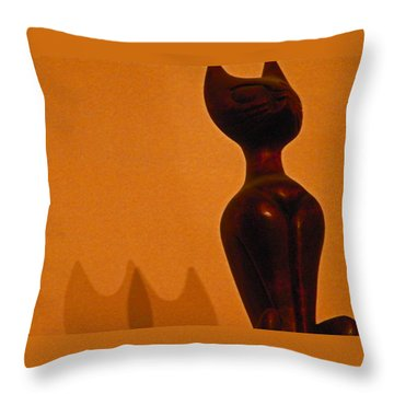 Cats Throw Pillow by Lenore Senior