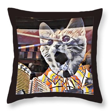 Cats On Congress Throw Pillow