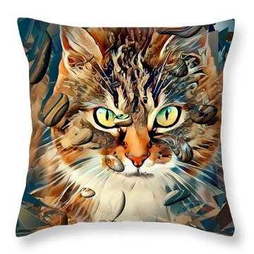 Cats Popart By Nico Bielow Throw Pillow