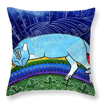 Cats Sleep Anywhere Throw Pillow