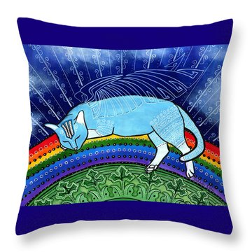 Cats Sleep Anywhere Throw Pillow
