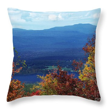 Catskill Mountains Photograph Throw Pillow