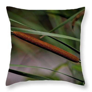 Cattail II Throw Pillow