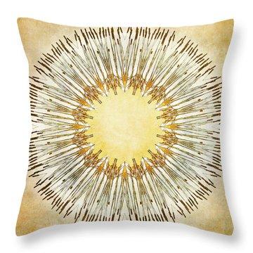 Cattail Mandala - Throw Pillow
