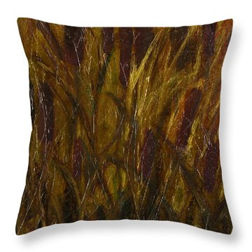 Cattails 1 Throw Pillow