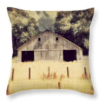 Throw Pillow featuring the photograph Hwy 3 Barn by Julie Hamilton