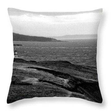 Cattle Point Lighthouse Throw Pillow