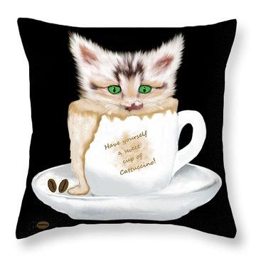 Cattuccino Throw Pillow