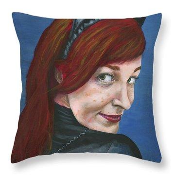 Catwoman Throw Pillow
