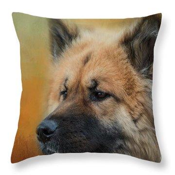 Caucasian Shepherd Dog Throw Pillow