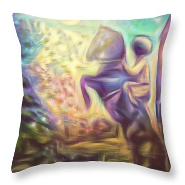 Caucasus Dream I Throw Pillow