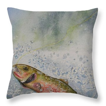 Caught Throw Pillow by Gale Cochran-Smith