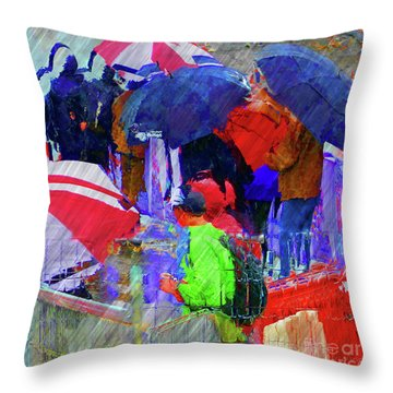 Caught In A Shower Throw Pillow