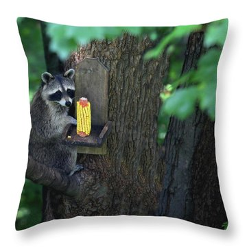 Caught In The Act Throw Pillow by Karol Livote