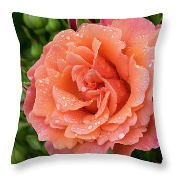 Caught In The Rain Throw Pillow