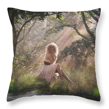 Caught In The Rays Of Light Throw Pillow