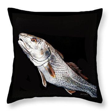 Caught In The Surf Redfish Throw Pillow
