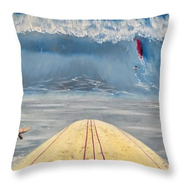 Throw Pillow featuring the painting Caught Inside by Kevin Daly