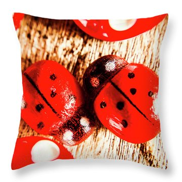 Caught The Love Bug Throw Pillow